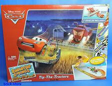Disney  Cars /  BJR75 /  Frank Vs. McQueen Tip-The-Tractors Track Set