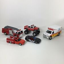 Lot Of Emergency Vehicles Fire Trucks, Ambulance And Police Cars 1:64