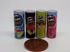 1:12 Scale 4  Pringles Packets Miniature Dolls House Food Snacks Accessory