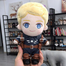 Anime The Avengers Captain America Cosplay Plush Sitting Change Doll Toy 20cm
