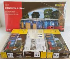 Faller_120217 + 3x180624 Electric engine shed 3 tracks+3 gate motors NIB sealled