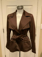 Lafayette 148 New York Dark Brown Belted Jacket, Size 8 (US)