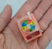 "Vintage Tiny handheld Baseball Game MK Hong Kong Orange Plastic 1"""