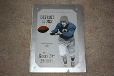 RARE 1938 DETROIT LIONS vs. GREEN BAY PACKERS NFL program / scorecard
