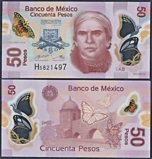Serie W UNC Polymer Banknote Mexico 50 Pesos p-123A 2017
