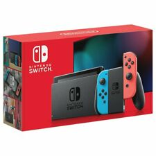 Nintendo Switch Console Neon Blue and Neon Red Joy-Con - Free Express Shipping
