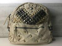 Zaino da donna zainetto con borchie borchiato Blumari ecopelle piramide piatte