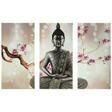 "Diamond Painting - Diamant Malerei - ""Buddha - 3tlg Vollbild 90 x 55 cm ""(3092)"