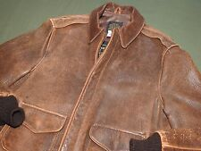 Vtg 1980s US AAF WW2 Pilot Style AVIREX A-2 LAMBSKIN LEATHER FLIGHT JACKET 40