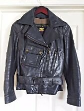 Belstaff Gold Label Asymmetrical Leather Biker/Moto Jacket Womens