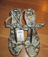 New NWT Mossimo Animal print wedge sandals size 9