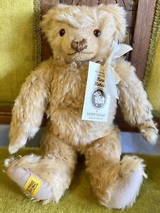 """15"""" Merrythought Mohair Replica Teddy Bear With Tags"""