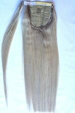18inches 100% Human Hair, Wrap Around Ponytail Hair Extensions #Light Ash Blonde