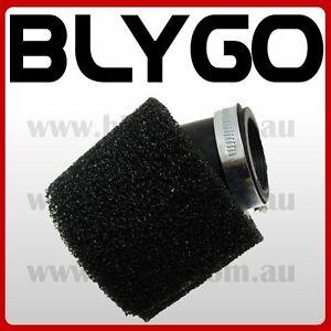BLACK 37 38mm Bent Angled Foam Air Filter Pod 110cc PIT Quad Dirt Bike ATV Buggy