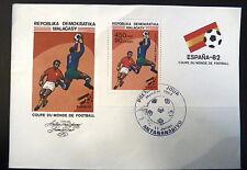 MADAGASCAR  BF 17   PREMIER JOUR FDC    FOOTBALL ESPANA 82  GARDIEN   450F  1982