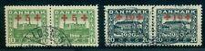 DENMARK #B1-2 (199-200) Semi Postal set in used pairs w/proper cancels, VF