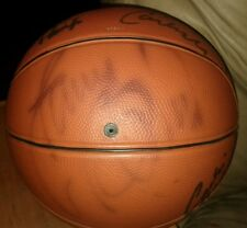 Small autographed(12) basketball 84'-85' yr. w/ Bird, Parrish, Mchale, & others