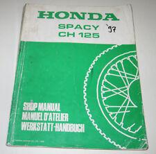 Werkstatthandbuch Honda Spacy CH 125 Motor Getriebe Lichtmaschine Bremse 1988!
