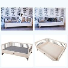 New Age Pet ecoFLEX Raised Dog Bed w/Removable Cushion, Large, Antique White New