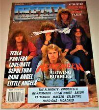 RARE Vintage 1991 METAL FORCES Magazine #59- TESLA, PANTERA, DARK ANGEL, SAXON