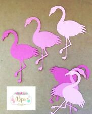 30 x Pink Flamingo Card Die Cuts - Toppers Card Making Scrapbooking Crafts