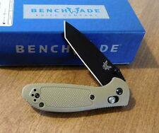 BENCHMADE New Sand Tan Mini Griptilian Blk Plain Edge Tanto Blade Knife/Knives