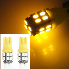 2PCS 20SMD LED Car Auto Side Wedge Light T10 W5W 194 168 501 Bulb 12V Amber