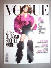 Magazine mode fashion VOGUE PARIS #984 février 2018 Kaia Gerber