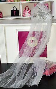 Mina Brides of Dracula Mizi JHDTOYS doll head veil only  Poppy Parker FR Nuface