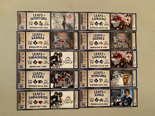 Set # 3 - 10 Toronto Maple Leafs Ticket Stubs 2009/10 Season