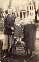 Real Photo Postcard Mother and Daughers at Home in Three Rivers, Michigan~126580