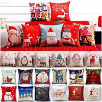 Christmas Xmas Santa Claus Cushion Cover Pillow Case Square Car Home Decor wsw