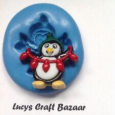 Silicona Molde Navidad Navidad Vacaciones Penguin Luces Cake Pop Joyas botón