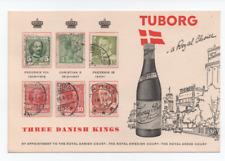 DANIMARCA - 1961 cartolina pubblicitaria Tuborg Royal Choise non comune timbrata