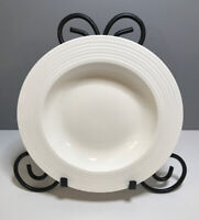 "Food Network Rim Soup Bowl White Stoneware, 8.75"" In Diameter"