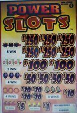 "Pull Tabs ""Power Slots"" 3990 Tickets Profit $980"