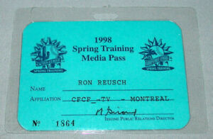 Official 1998 Montreal Expos Spring Training Baseball Media Pass