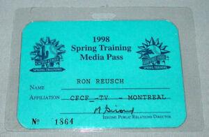 Official 1998 Montreal Expos Spring Training Baseball Media Pass