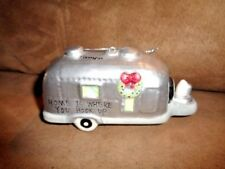 Christmas Ornament Silver RV Camper Trailer Camping Home is where you hook up