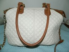 Steve Madden Beige Quilted Handled Purse