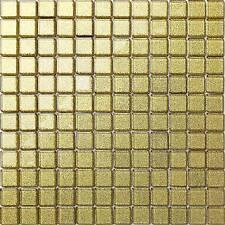 Glass Mosaic Tiles Gold Glitter Bathroom Bath Spashback Border Feature (MT0080)