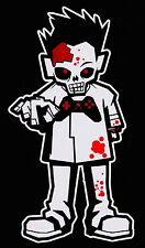 Bloody Zombie Boy Walking Dead Family Vinyl Decal Sticker