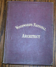VERY RARE WOODWARD'S NATIONAL ARCHITECT, 1869, 1000, DESIGNS, PLANS & DETAILS