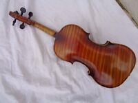 Alte Geige Violine ca. 59 cm Full Size Brandstempel Stainer