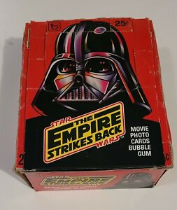 Vintage 1980 Star Wars Empire Strikes Back Series 1 Topps Trading Card EMPTY BOX