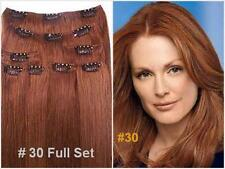 "18""#30(M.Auburn) Remy Human Hair Clip-In Extensions  Full Set- 9 pcs /130 grams"