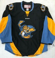 New Authentic Pro Stock CCM Toledo Walleye ECHL Hockey Goalie Jersey sz 58 7287