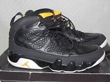 Sz. 9.5 Nike Air Jordan 9 Retro 302370-004 Black/Citrus-White Athletic Sneakers