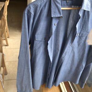 John Varvatos Blue Mens Shirt, Size Large