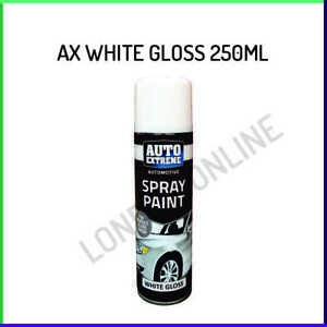 1x White Gloss Spray Paint Aerosol Can Auto Extreme Metal Wood 250ml